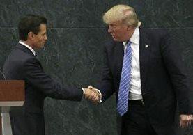 Donald Trump y Enrique Peña Nieto, en conferencia de prensa en agosto del 2016.(AP)