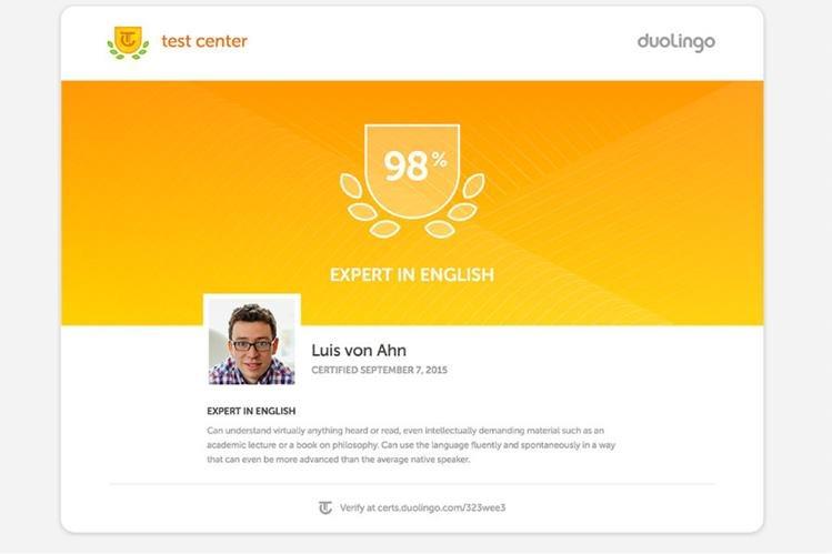 Luis von Ahn asegura que el Duolingo English Test ha logrado resultados sorprendentes. (Foto Prensa Libre: Duolingo)