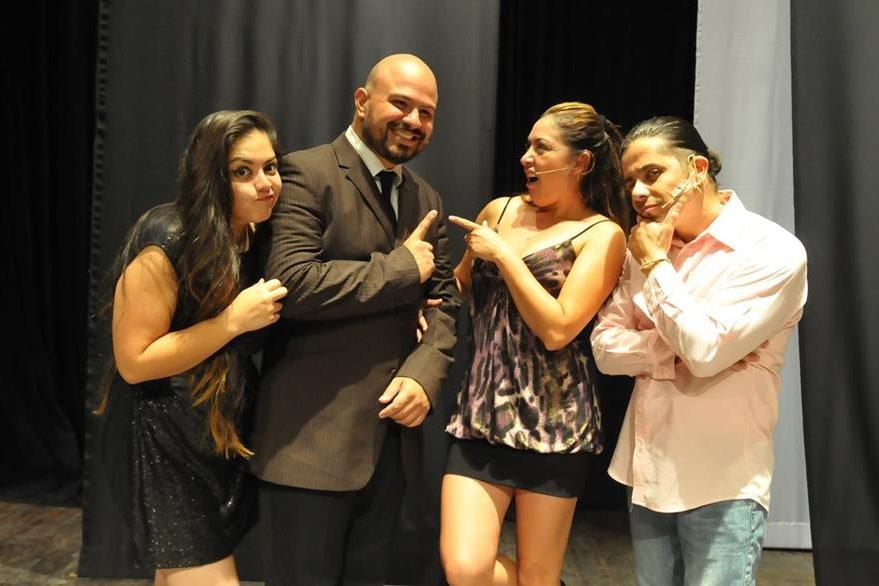 Auri Cano,   Víctor Rivas, Claudía Alein y Tavo Bárcenas son los protagonistas de este musical. (Foto Prensa Libre: Ana Lucía Ola)