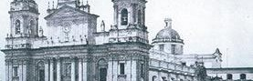 Catedral Metropolitana antes de 1917 aparece con su cúpula original. (Foto: Hemeroteca PL)