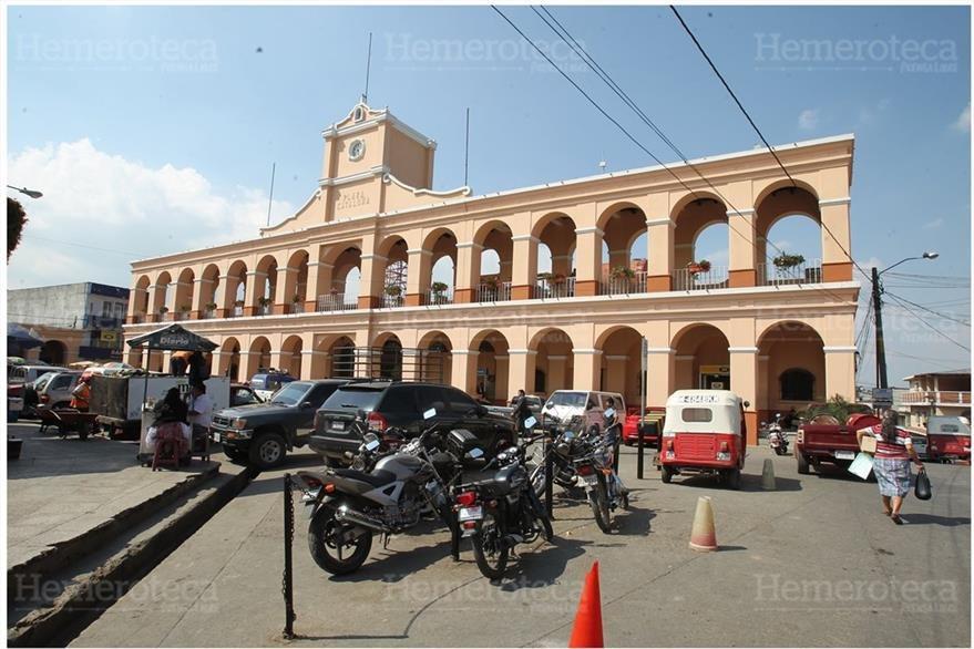 Portales de San Juan Sacatepéquez, Guatemala. (Foto: Hemeroteca PL)