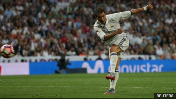 Disparo al ángulo. Los goles de Ronaldo están siendo decisivos en la búsqueda del tan ansiado doblete para el Real Madrid.