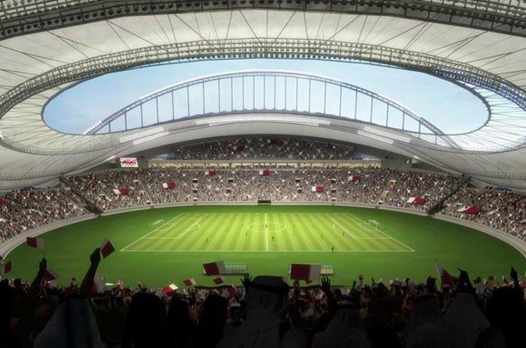 El Khalifa de Doha es el primer estadio refrigerando al aire libre del mundo. (Foto Redes).