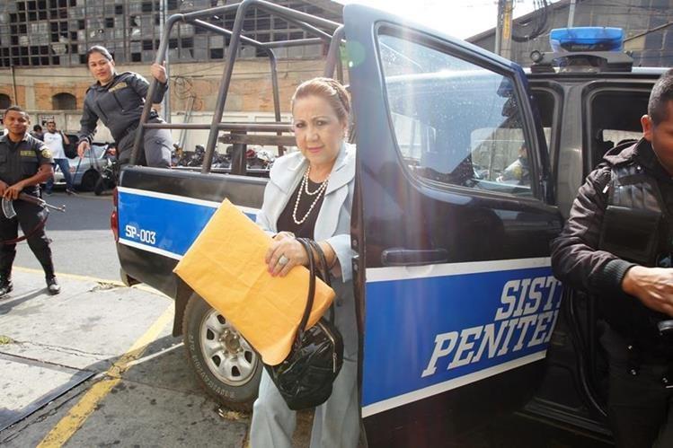 La magistrada de la Corte Suprema de Justicia, Blanca Stalling, está acusada de tráfico de influencias. (Foto Prensa Libre: Hemeroteca PL)