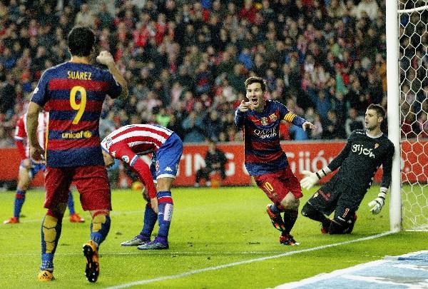Messi llegó a los 301 goles en la Liga con el Barcelona. (Foto Prensa Libre: EFE)