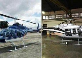 Helicópteros que supuestamente eran de Otto Pérez Molina serán usados para combatir narcotráfico. (Foto Prensa Libre: Hemeroteca PL)