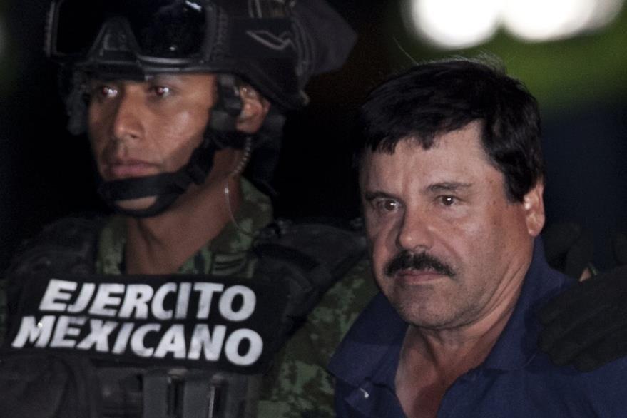 """Joaquin """"el Chapo"""" Guzman fue presentado a la Prensa por las autoridades mexicanas. (AP)"""