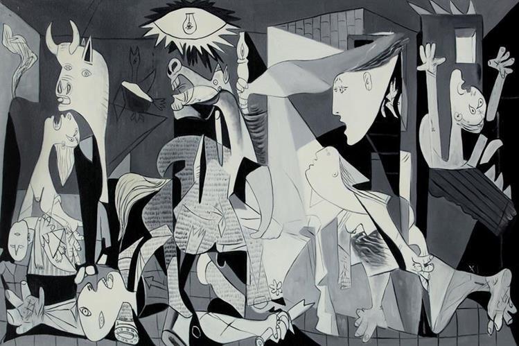 El Guernica, famoso cuadro de Pablo Picasso, fue pintado entre los meses de mayo y junio de 1937, cuyo título alude al bombardeo de Guernica, durante la Guerra Civil Española. (Foto Prensa Libre: Hemeroteca PL)