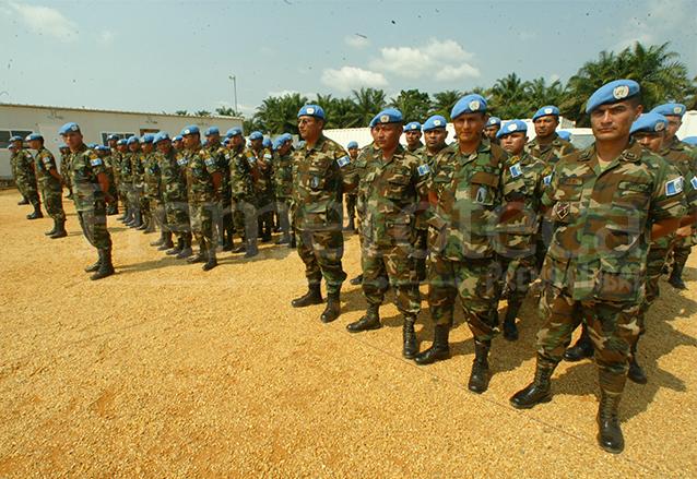 Este es el segundo contingente de kaibiles, al arribar a la República Democrática del Congo (RDC), el 25 de noviembre de 2005.