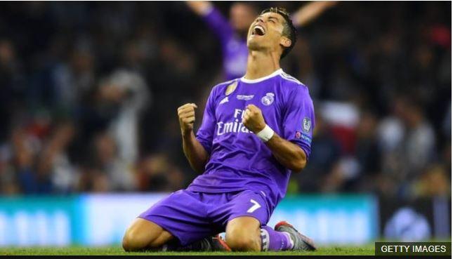 Cristiano Ronaldo tras ganar la Liga de Campeones frente a la Juventus, su tercera en los últimos cuatro años.
