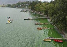 La polémica por el contenido vertido en el Lago de Amatitlán continúa, ahora con una solicitud de embargo. (Foto Prensa Libre: Hemeroteca)