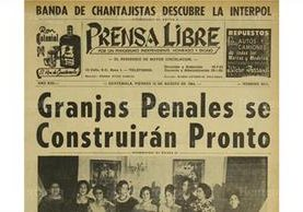 14/8/1964 Se da a conocer el proyecto de construcción de varios penales, entre ellos Pavón. (Foto:Hemeroteca PL)