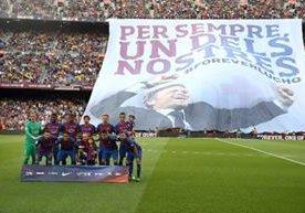 El técnico Luis Enrique se despide del Barcelona