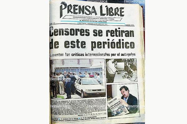 """Portada de mayo de 1993, sobre el """"Serranazo"""". (Foto: Hemeroteca PL)"""