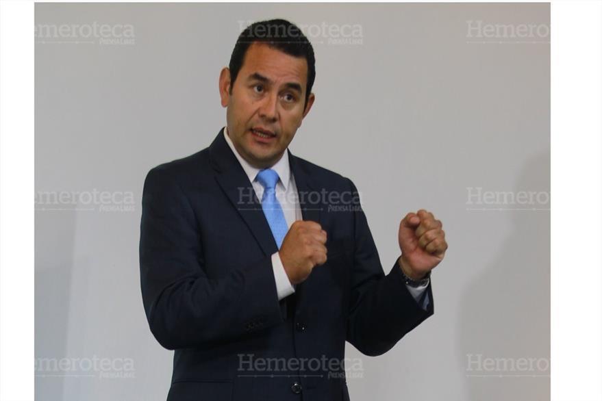 """Jimmy Morales, actual presidente del país, ha sido recibido motes como """"El cómico"""". (Foto: Hemeroteca PL)"""