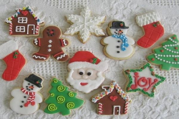 Deliciosas galletas para ambientar las fiestas for Mesas de navidad decoradas sencillas