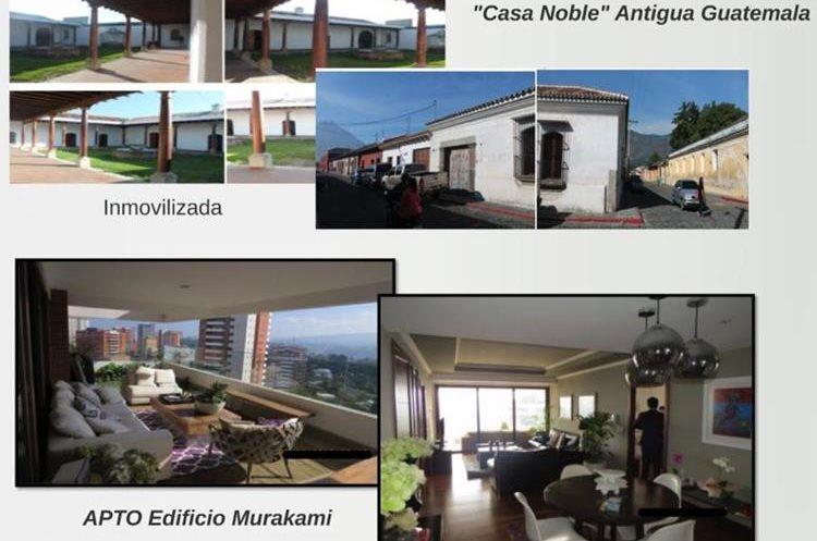 Dos de las lujosas propiedades que compró el exministro de Comunicaciones. (Foto Prensa Libre: MP/Cicig)