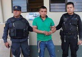 Carlos Armando Bala Lares, durante su captura en el 2015, en Chimaltenango. (Foto Prensa Libre: Hemeroteca PL).