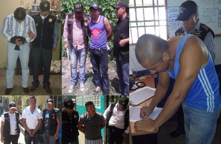 Cinco agentes de la PNC fueron capturados por la fuga del jefe de seguridad de la mina San Rafael. (Foto Prensa Libre: Cortesía PNC)