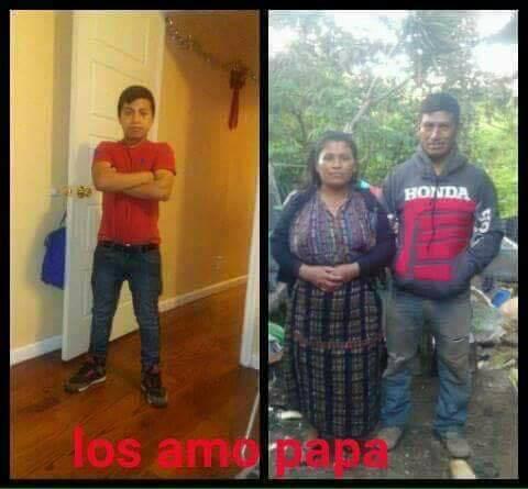 El menor habría compartido días atrás, esta imagen de sus padres en Sololá, a quienes les expresaba su amor. (Foto Prensa Libre: Facebook)