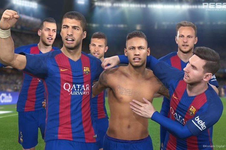 Así serán las celebraciones de Neymar en el videojuego. (Foto Prensa Libre: Twitter PES Latam)