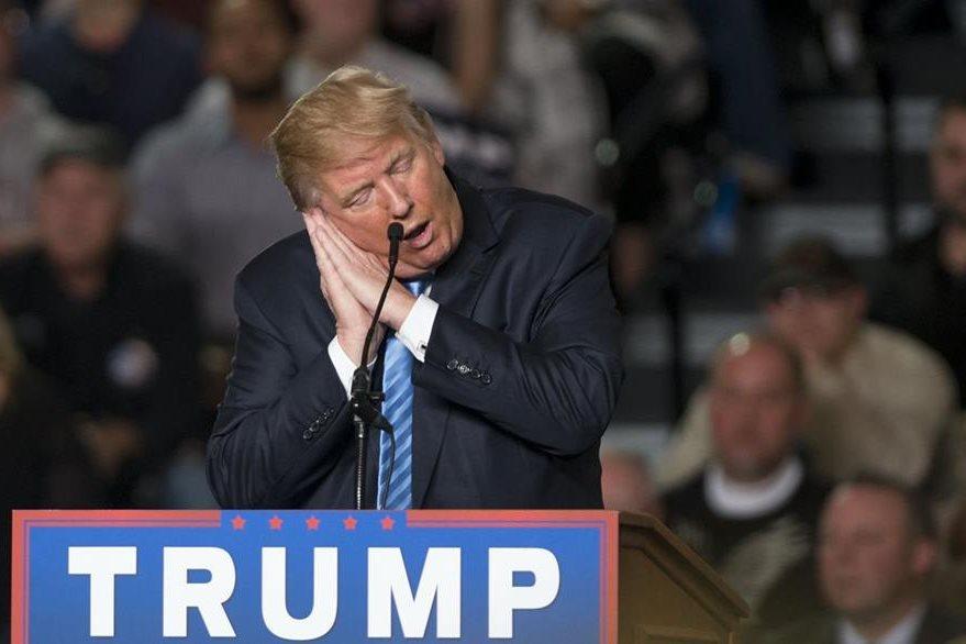 Donald Trump, el polémico precandidato republicano durante uno de sus actos públicos. (Foto Prensa Libre: AFP).