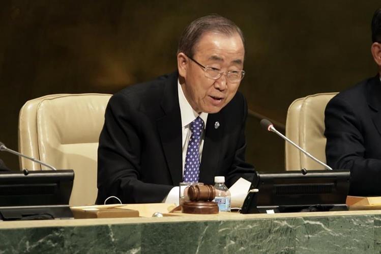 Ban Ki-moon, secretario general de la ONU. (Foto Prensa Libre: AP).