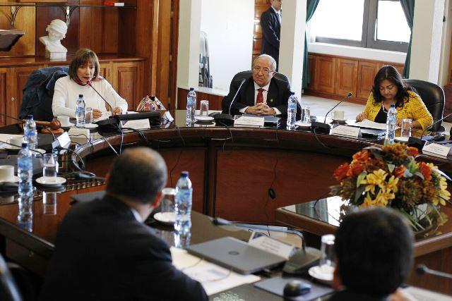 Magistrados realizan pleno extraordinario para elegir a su Presidente. (Foto Prensa Libre: Paulo Raquec)