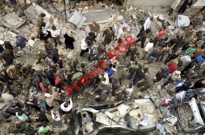 Siria padece  constantemente de atentados como este, ocurrido en octubre del año pasado, cuando un cochebomba mató a 10.
