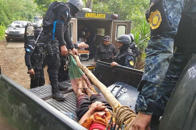 Santos David de la Cruz Reynosa, presunto integrante de Los Guangochas resultó herido al enfrentarse a balazos con agentes de la PNC. (Foto Prensa Libre: PNC)