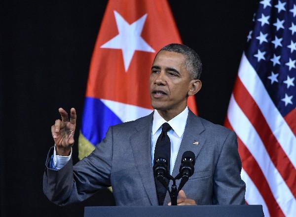 Barack Obama, pronuncia un discurso en La Habana, Cuba.