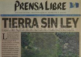 Portada de Prensa Libre del 18 de abril de 2004. (Foto: Hemeroteca PL)