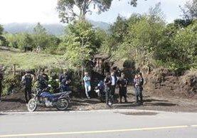 Uno de las entradas para escalar el volcán Acatenango. (Foto Prensa Libre: Víctor Chamalé).
