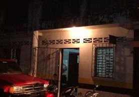 Subestación de la PNC en San Pablo Jocopilas, Suchitepéquez. (Foto Prensa Libre: Cristian Icó Soto.