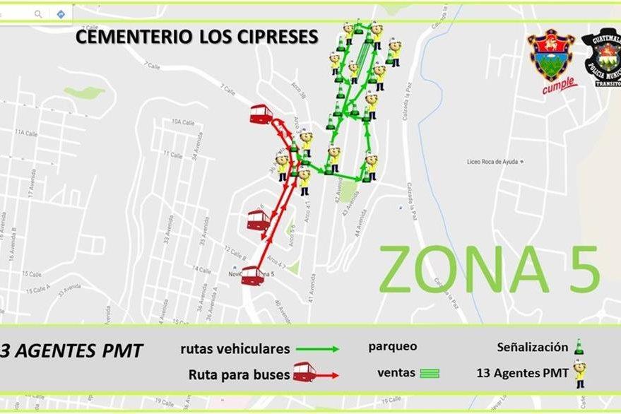 En la zona 5, se ubica el Cementerio Los Cipreses. Foto, Prensa Libre: Municipalidad de Guatemala