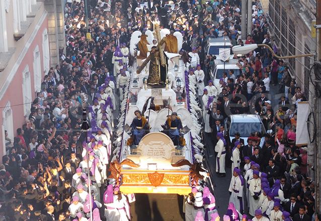 La procesión de Jesús del Consuelo inicia los cortejos mayores de la Semana Santa en la capital. (Foto: Néstor Galicia)