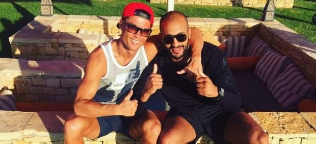 Cristiano junto a el boxeador marroquí Badr Hari, en octubre del año pasado.