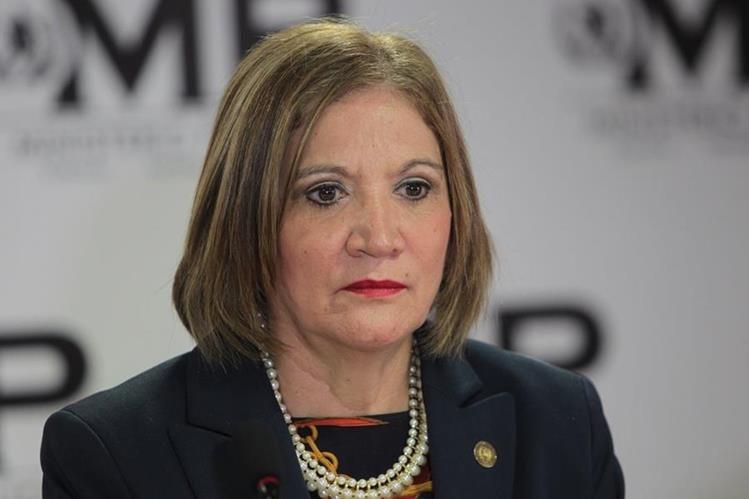 Maria Eugenia Villagrán, jefa de la PGN. (Foto Prensa Libre: Hemeroteca PL)