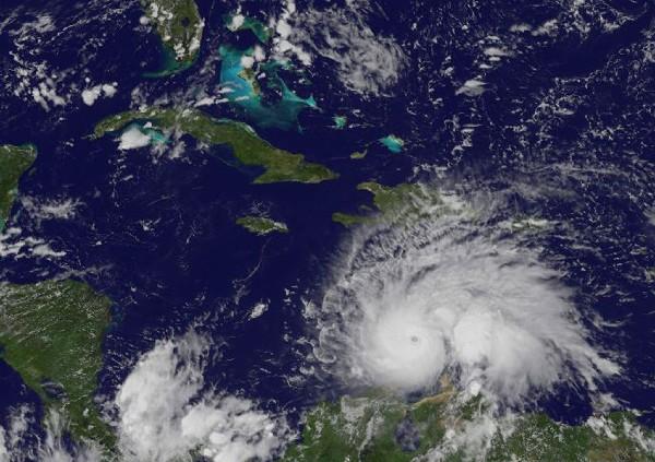 Matthew, el quinto huracán de la actual temporada ciclónica en el Atlántico. (Foto Prensa Libre:EFE).