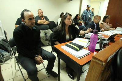 Rafael Morales durante una audiencia de apertura a juicio, donde negó haber disparado a Valeria Ardón. (Foto Prensa Libre: Hmeroteca PL)