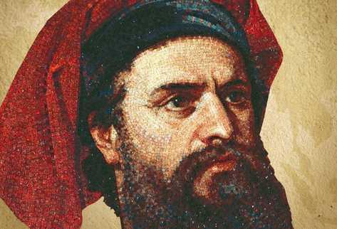 Imagen del veneciano, según la ilustración del libro Marco Polo, el hombre que viajó por el mundo medieval, de Nick McCarty.
