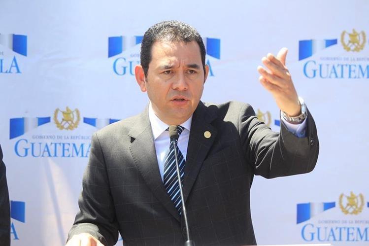 El presidente Jimmy Morales, cumple este 14 de julio seis meses de estar al mando de la nación. (Foto Prensa Libre: Hemeroteca PL)