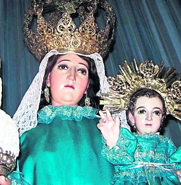 Imagen de la Virgen de Candelaria, venerada en su parroquia de la zona 1 capitalina. (Foto: Hemeroteca PL)