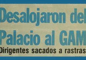 Titular de Prensa Libre del 27 de septiembre de 1986. (Foto: Hemeroteca PL)