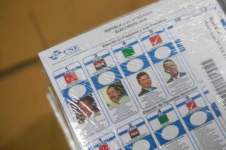 Las boletas para las elecciones en Nicaragua ya están listas, 3.8 millones de ciudadanos participarán en la votación del próximo 6 de noviembre. (Foto Prensa Libre: AFP).