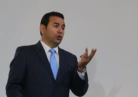 El sábado 14 será el informe de Gobierno del presidente Jimmy Morales. (Foto Prensa Libre: Hemeroteca PL)