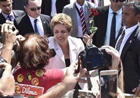 Ultimos instantes de Rousseff en la sede de gobierno.