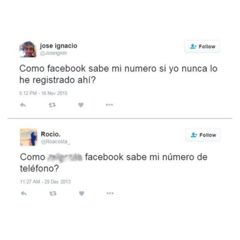 Estas son algunas reacciones en Twitter de los usuarios de Facebook. Los tonos de sorpresa o fastidio pueden ser distintos, pero la pregunta es la misma. (Twitter)
