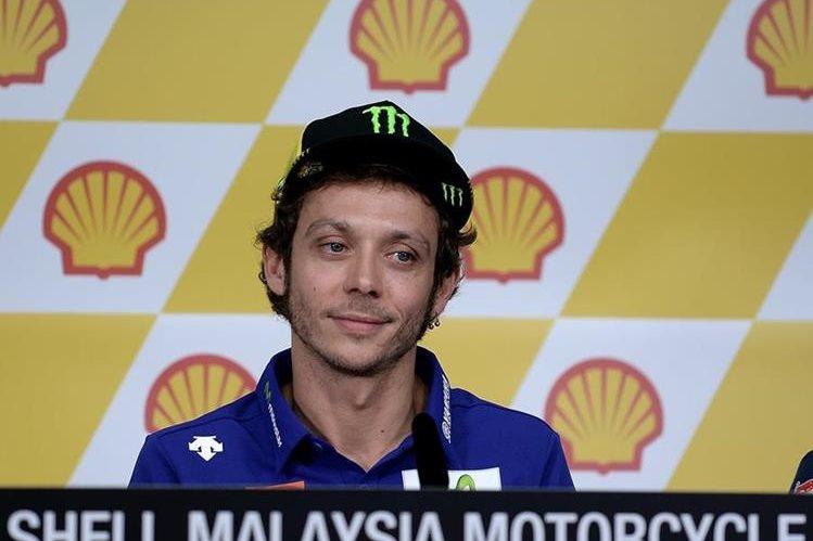 Valentino Rossi compareció en la conferencia de prensa, previo al GP de Malasia. (Foto Prensa Libre: AFP)