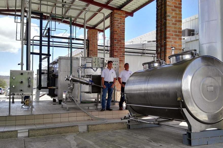 Planta procesadora de lácteos Tecnolac. (Foto Prensa Libre: Hugo Oliva)